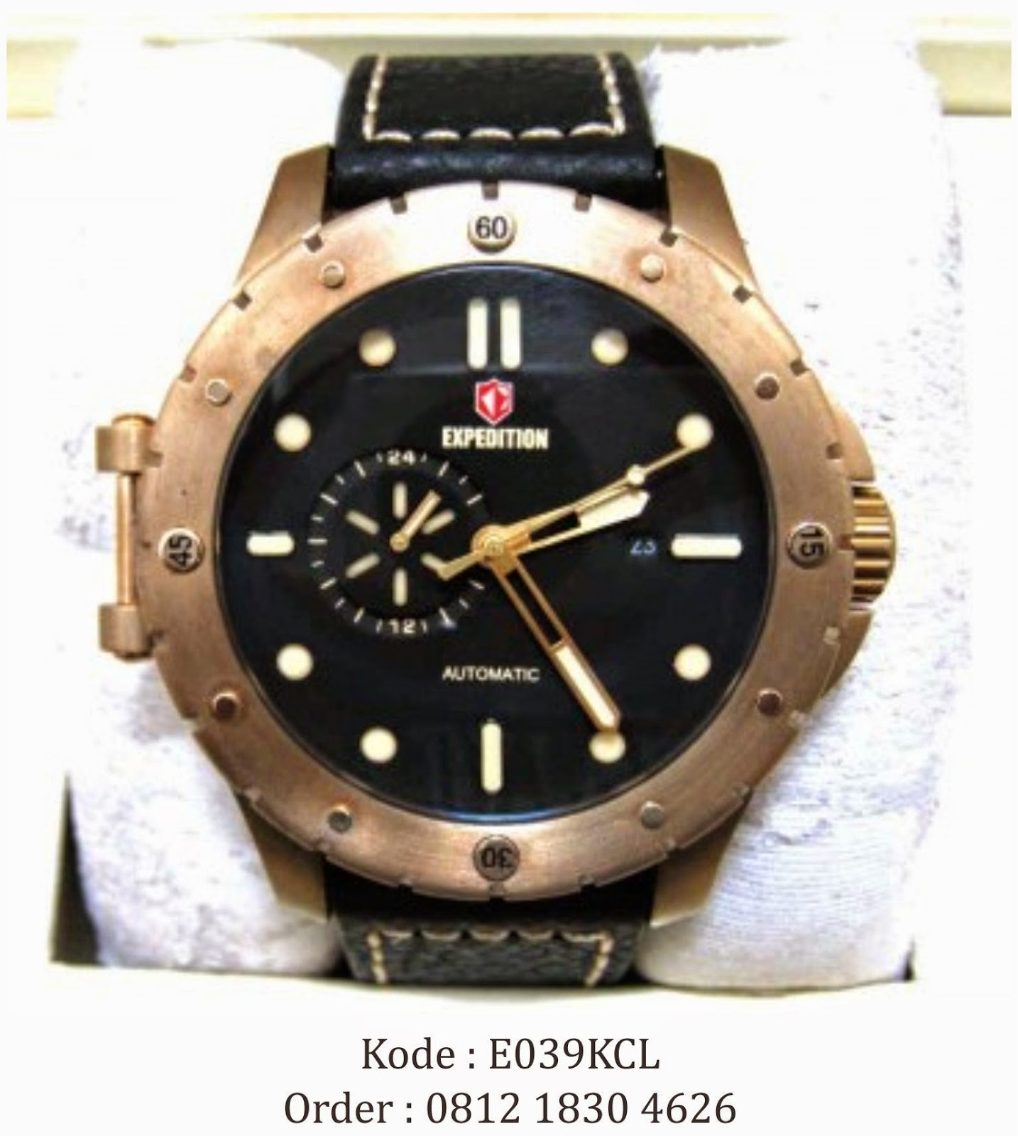 0812 1830 4626 | Jual Jam Tangan Expedition 6628 Rosegold Black Automatic Limited Edition