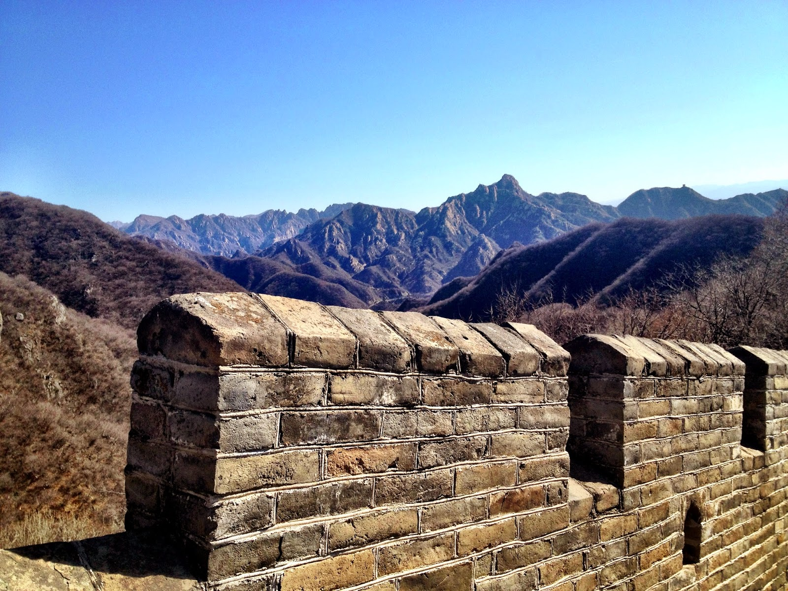 Mountain ranges piercing the horizon - Great Wall Of China