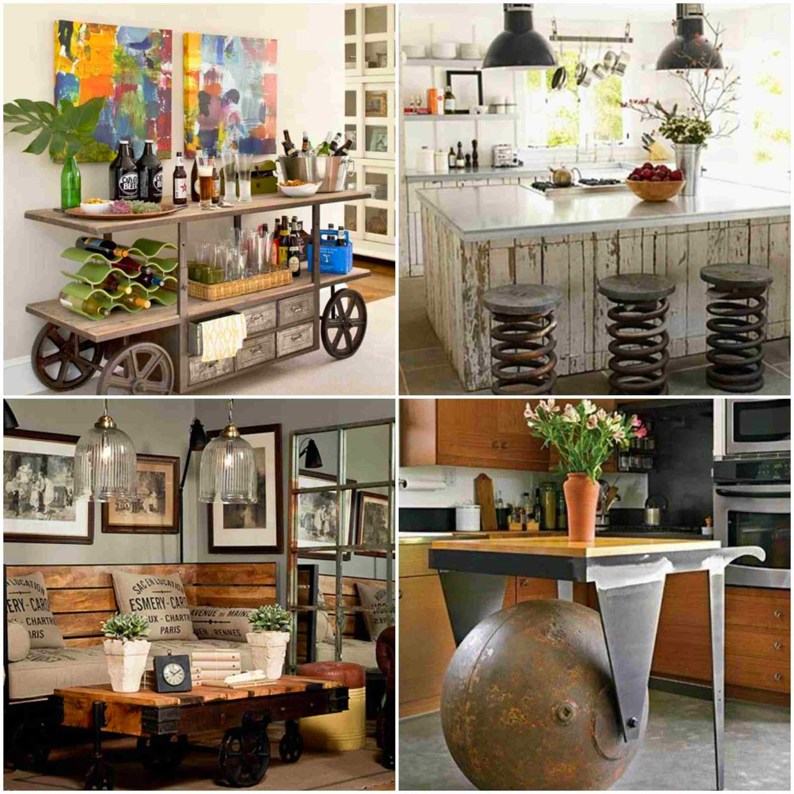 Diy industrial furniture ideas for your home diy fun world for Home furniture ideas