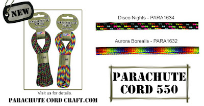 New Paracord 550 colors for Fall at Parachute Cord Craft.com