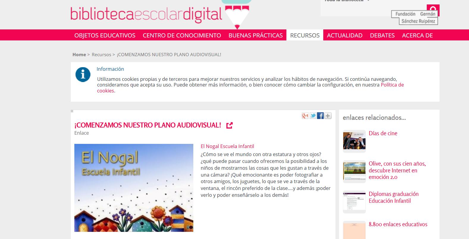 http://bibliotecaescolardigital.es/comunidad/BibliotecaEscolarDigital/recurso/comenzamos-nuestro-plano-audiovisual/6f7749ea-9dd7-4155-b008-711f0c3d9dfd