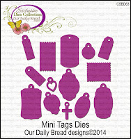 Our Daily Bread designs Custom Mini Tags Dies