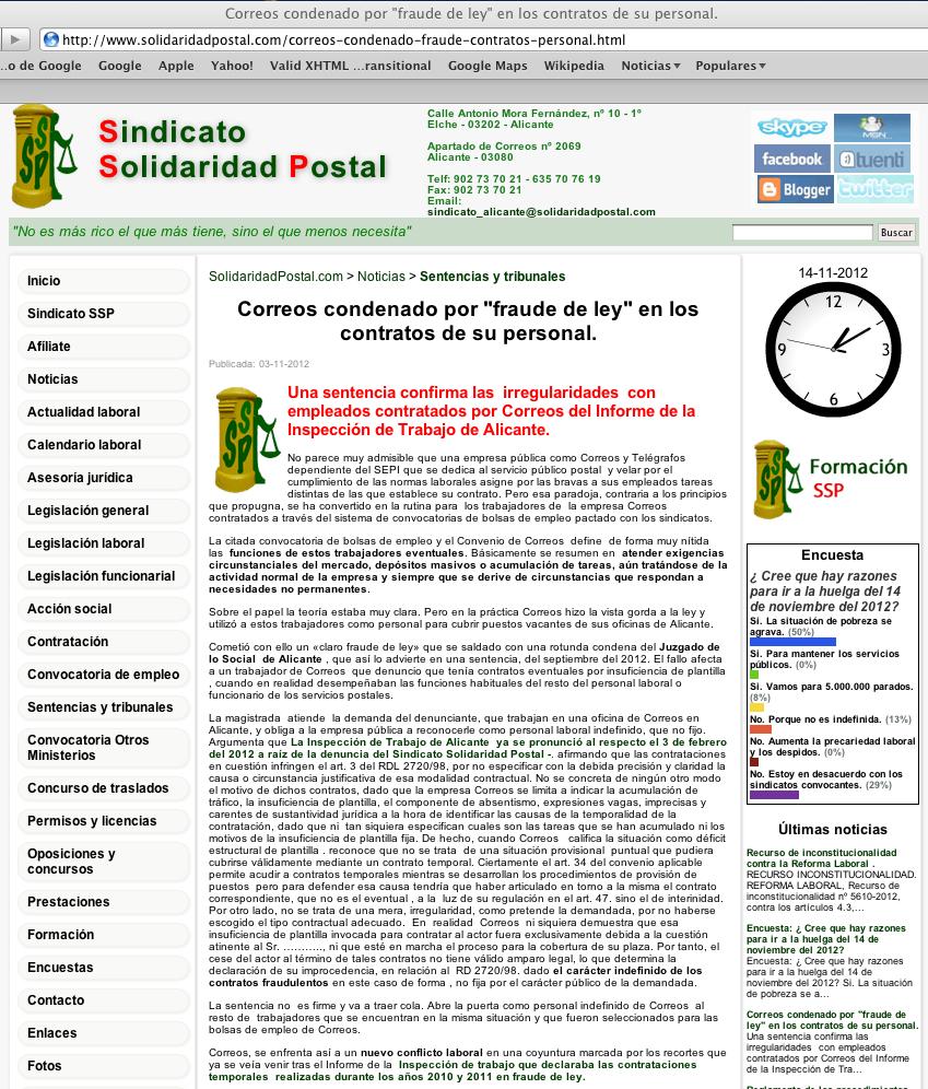 Solidaritat postal solidaridad correusalacant 121103 for Oficina empleo alicante