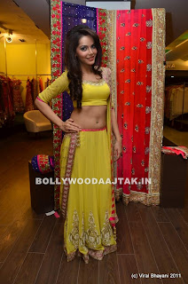 Shahzahn Padamsee wearing hot Choli Ghagra Spicy Pictures
