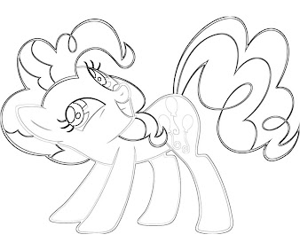 #10 Pinkie Pie Coloring Page