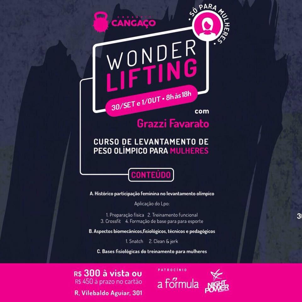 Atenção! Curso de Levantamento de Peso Olímpico para Mulheres -    em Fortaleza, dias 30/09 e 01/10