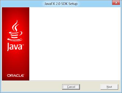 Install JavaFx 2.0 SDK Setup