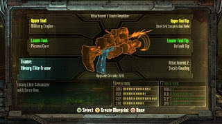 An example of the Craft Bench from Dead Space 3, where you construct your own weapons and mod them