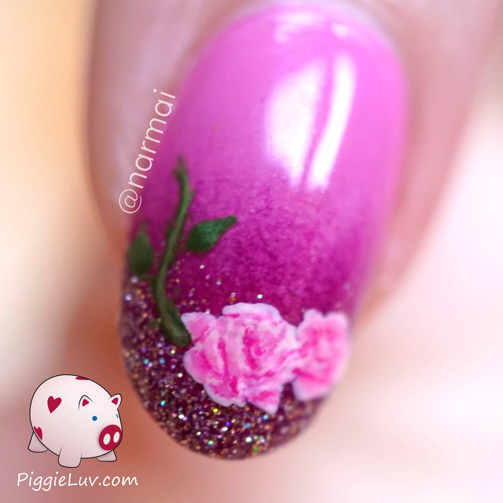 Piggieluv freehand roses nail art for valentines day freehand roses nail art for valentines day prinsesfo Gallery