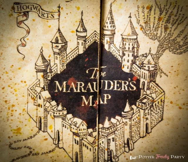 Carte du maraudeur Harry Potter parchemin