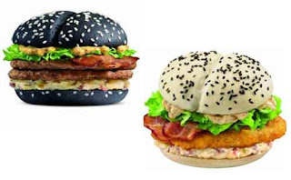 Black and white burgers in China