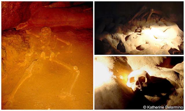 Belize Actun Tunichil Muknal Crystal Maiden, Skulls, Bones