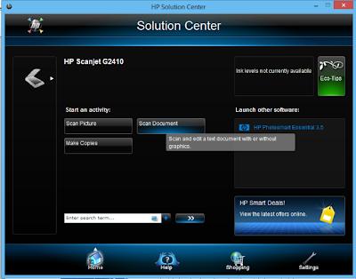 Pengoperasian Scanner Tipe HP Scanjet G2410.