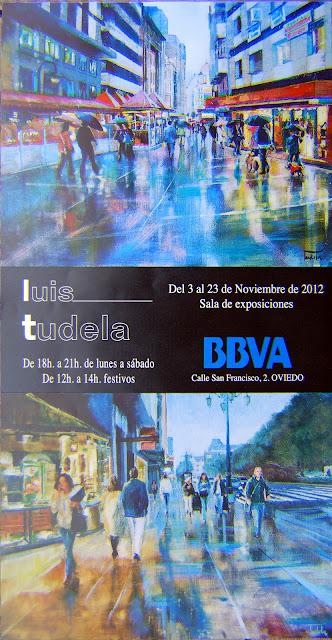 Exposicion en la Sala del BBVA de Oviedo. Noviembre de 2012