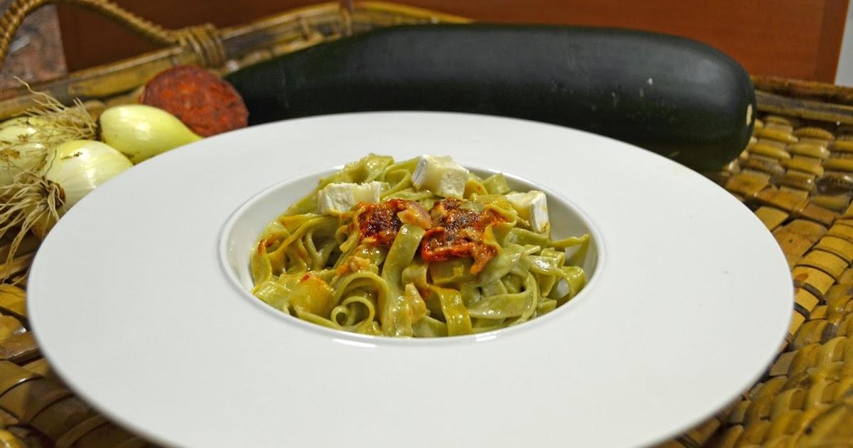 Cocinar con c cintas verdes con calabacin queso de Cocinar queso de cabra
