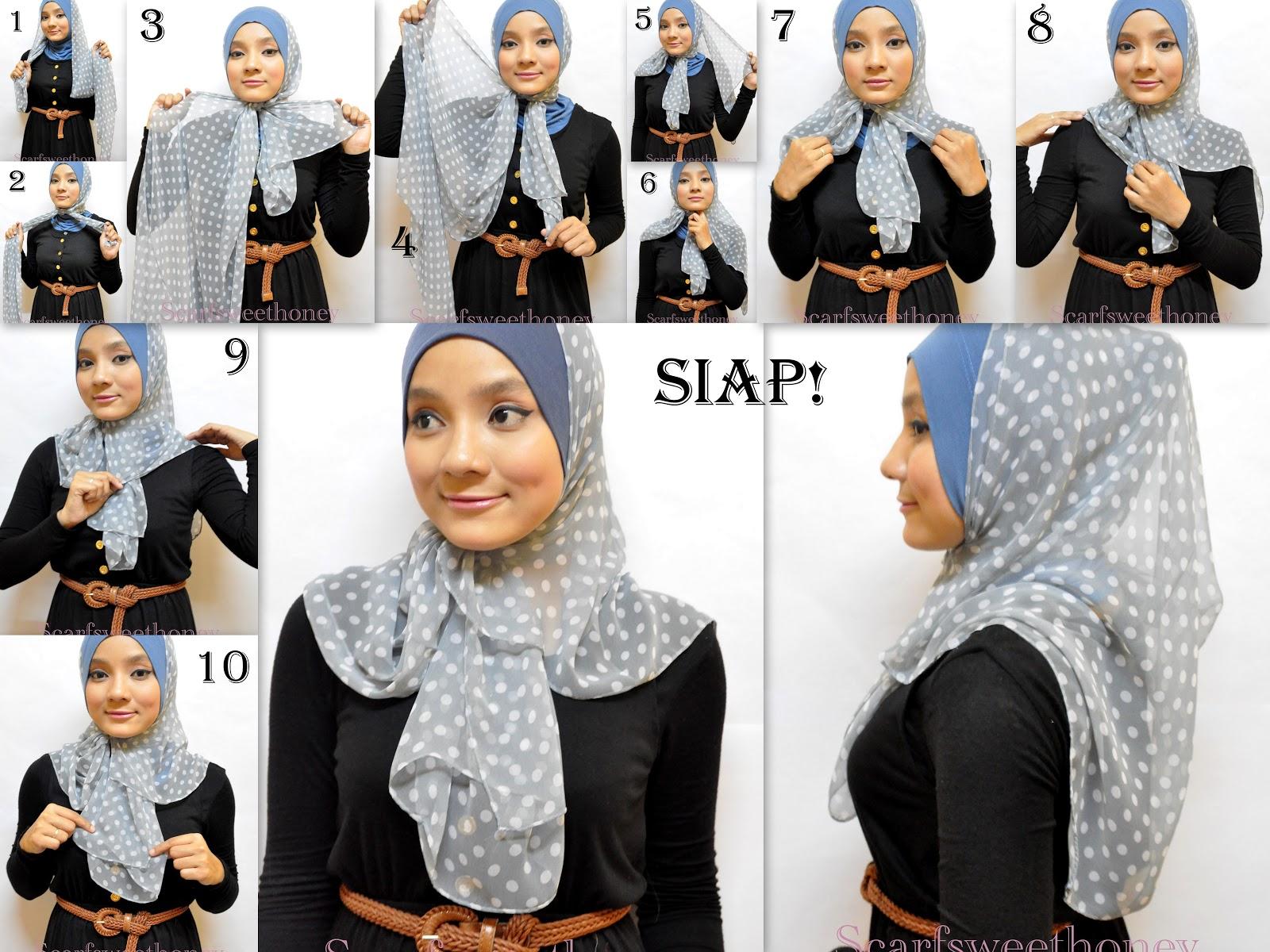 Tutorial Hijab Malaysia Malaysia Hijab Tutorial Cara Memakai