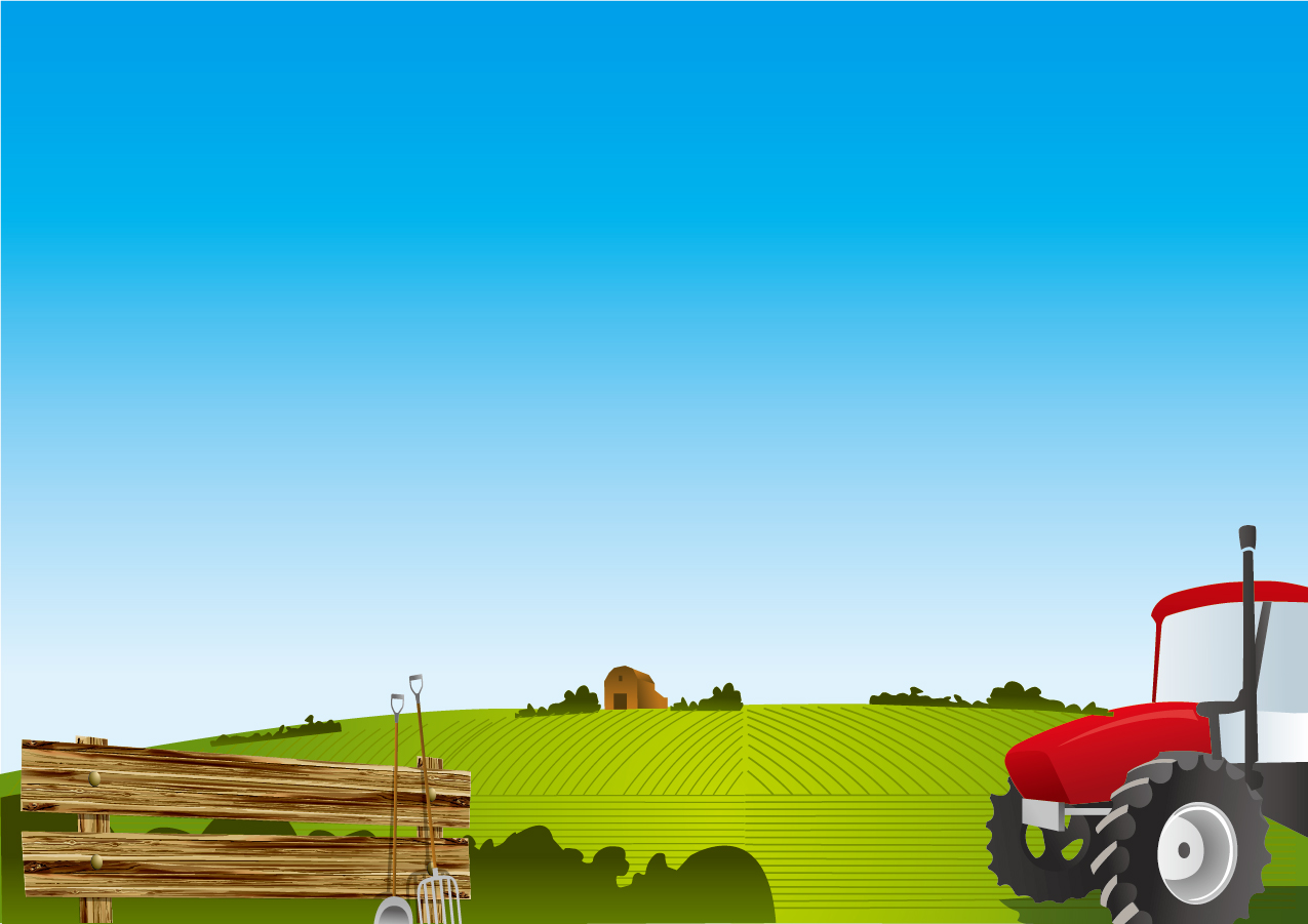 農場の風景 Vector landscape Farm イラスト素材