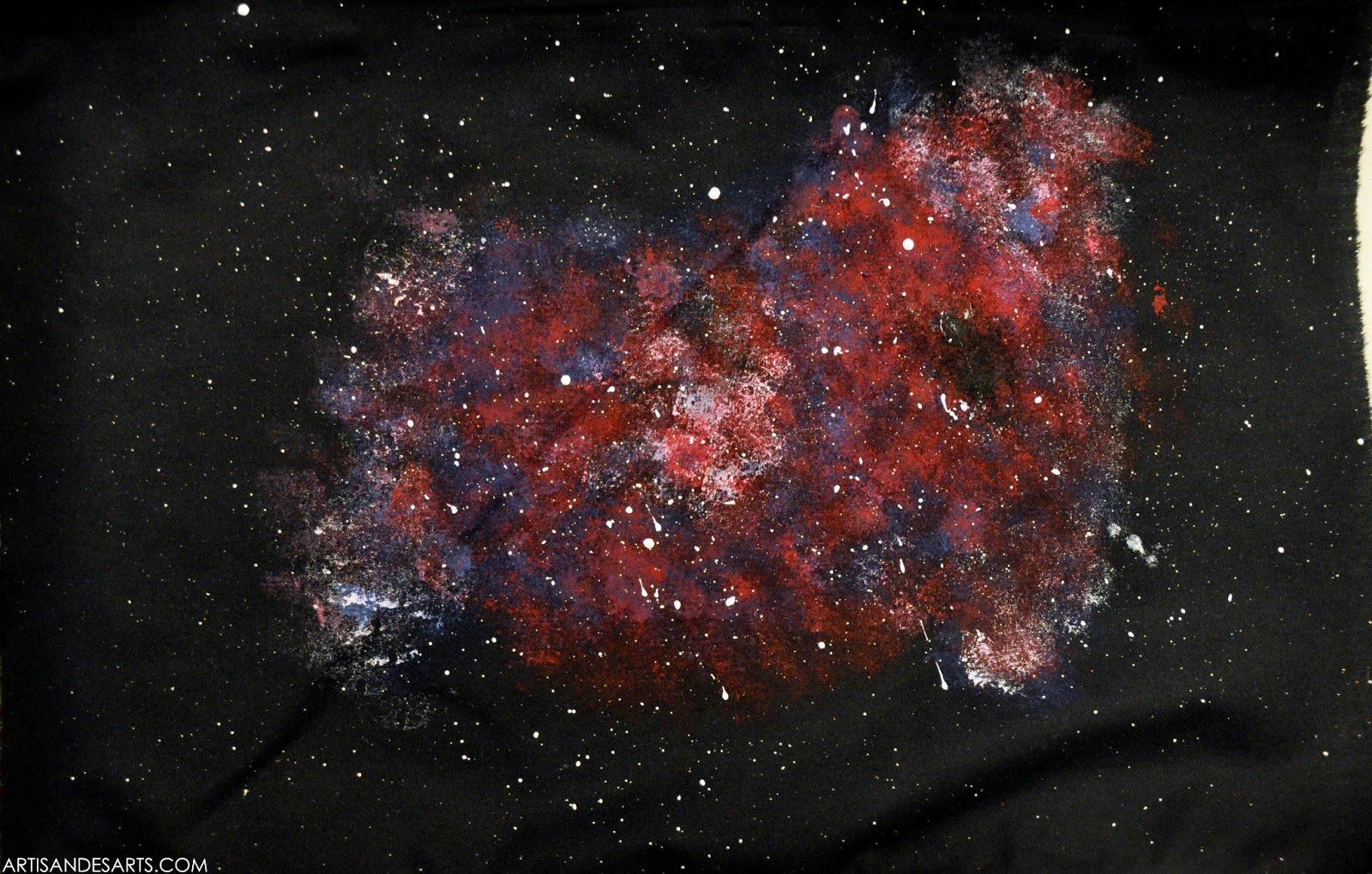 Artisan des arts outer space nebula galaxy paintings for Nebula fabric