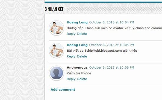 Tạo Avatar bo tròn góc phần comment của Blogger