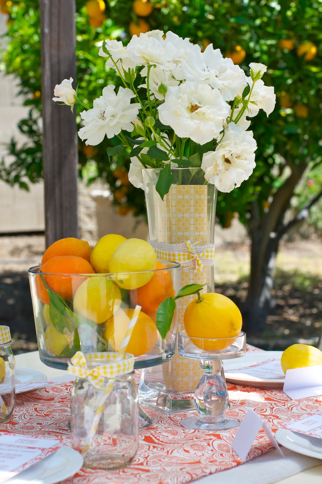 Summer Party Ideas Citrus Themed Ladies Luncheon Party