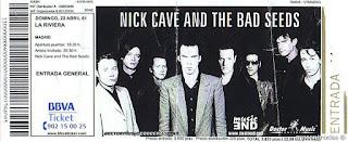 entrada de concierto de nick cave
