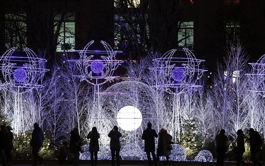Christmas lights in paris blazing cat fur for Parisian christmas decorations home