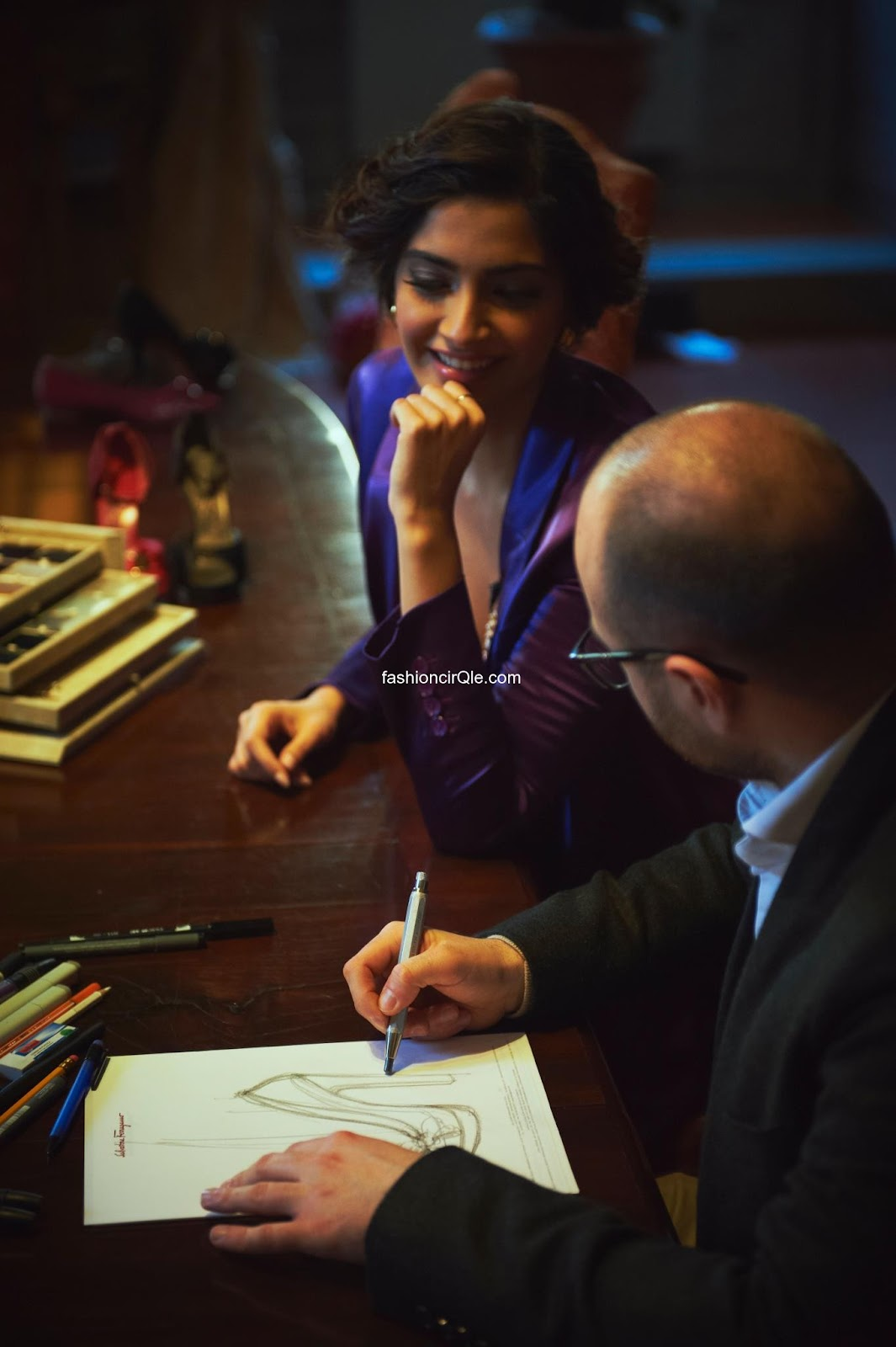  Sonam Kapoor 1 -  Sonam Kapoor Visits Ferragamo Headquarters