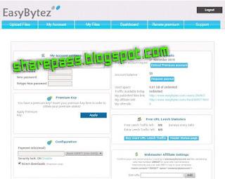 easybytez.com premium account | filehost premium account
