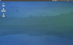 Xubuntu 12.04 desktop and wallpaper