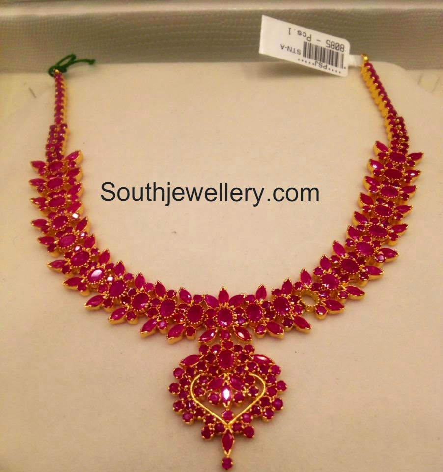 ruby necklace models