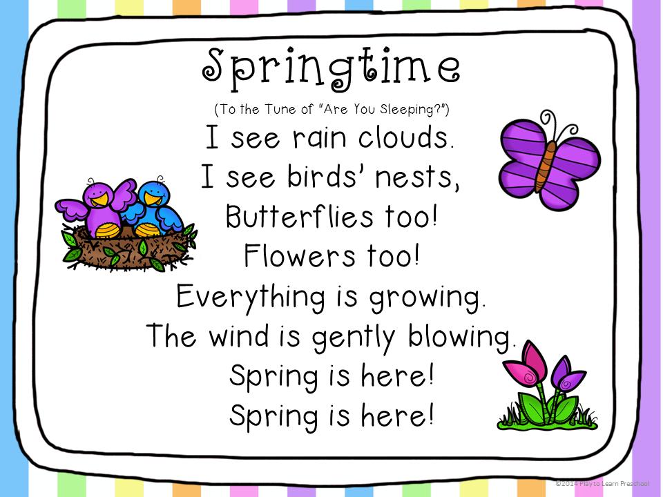 Preschool Sunflower Poems Just B Cause