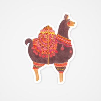 The Lovely Llama Illustration by Haidi Shabrina