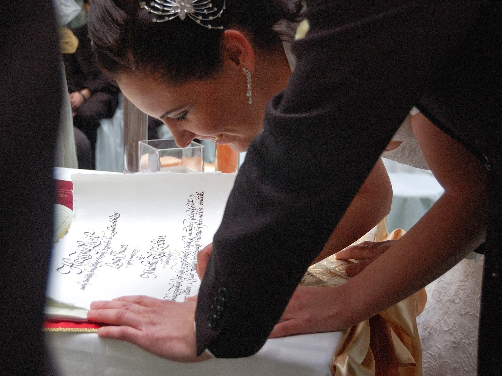 Kézzel írt házasságlevél