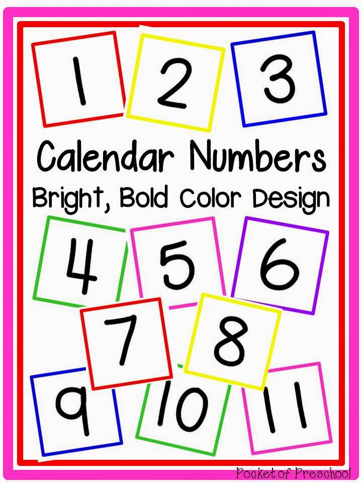 Kindergarten Calendar Numbers : How to make and implement a linear calendar pocket of