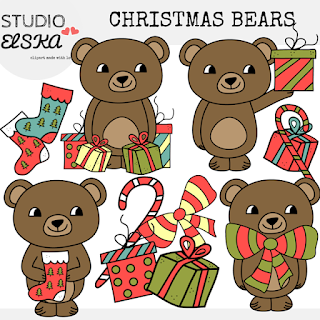 https://www.teacherspayteachers.com/Product/Christmas-Bear-Clipart-Studio-Elska-2246605