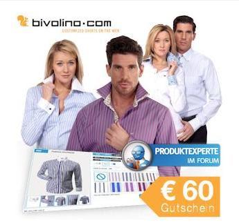 60€-Gutschein für bivolino.com zum Preis von 29,95 Euro bei iBood
