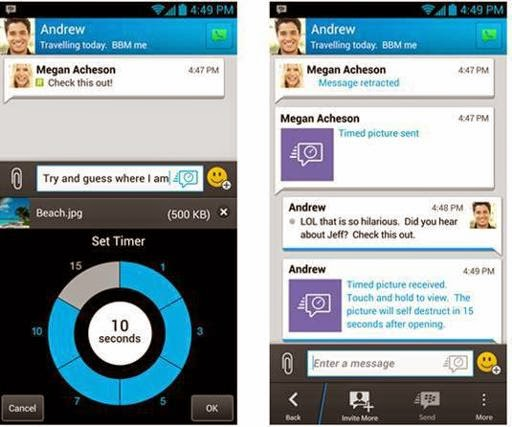 2 fitur baru di BBM: Message Retraction (Penarik Pesan) & Timed Message (Pesan Waktu)