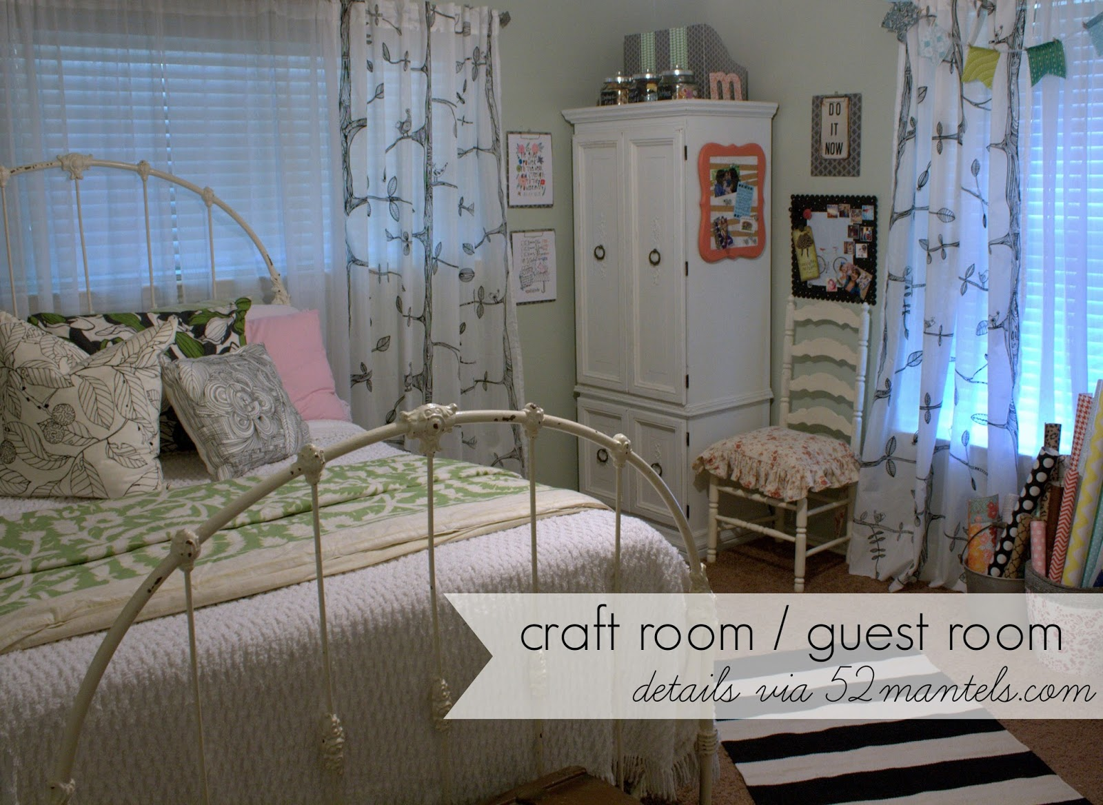 52 Mantels Combined Craft Room Guest Room