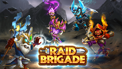 Raid Brigade Cover - Art of Four Heroes Fighting