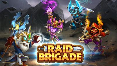 Raid Brigade Cover - Art of Four Heroes Fighting