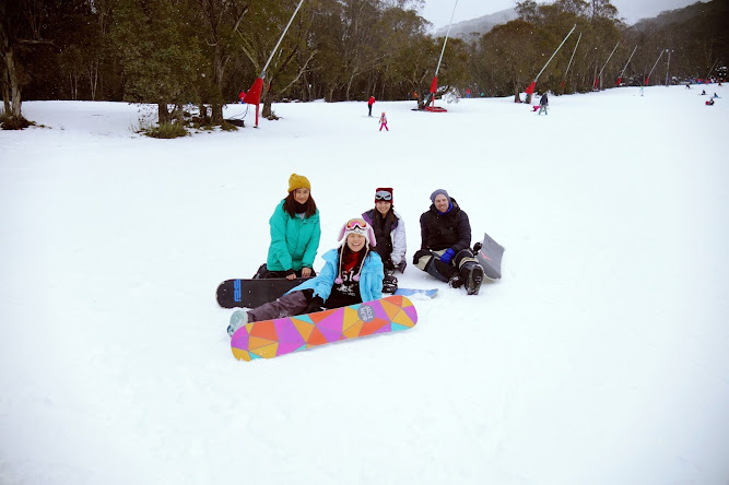 Snowboarding Thredbo 2014 Snowman