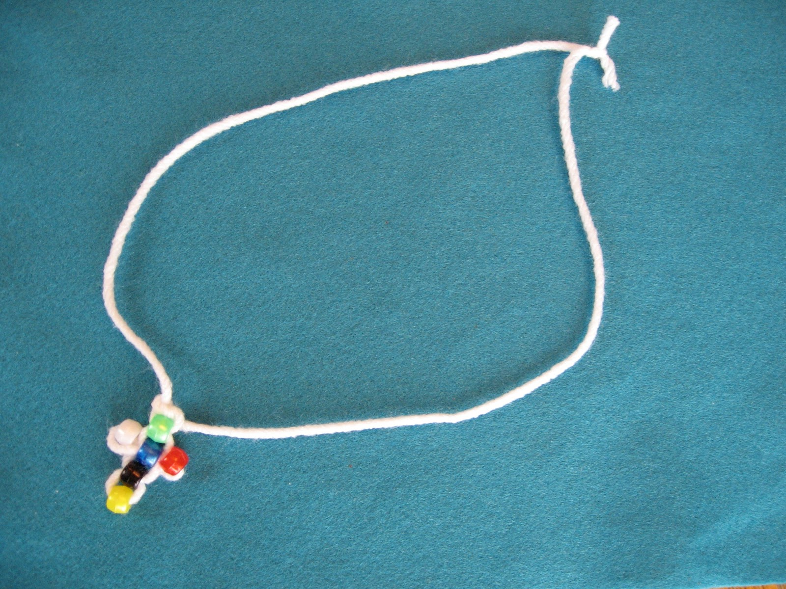 Almost Unschoolers: Wordless Book Inspired, Pony Bead Cross Craft
