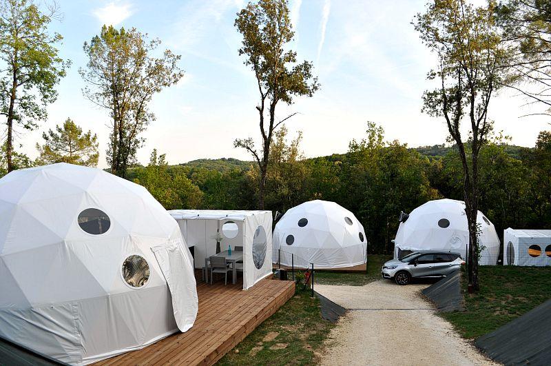 Glisten camping eco domes france