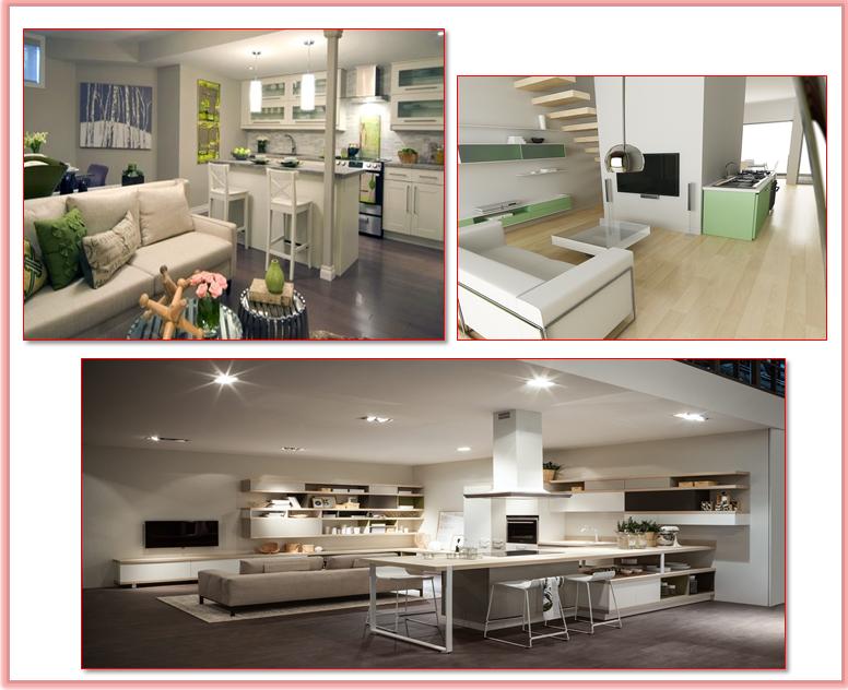 Cucina soggiorno open space gena design - Colori per pareti cucina soggiorno ...