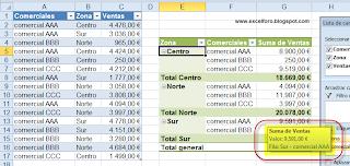 Mostrar detalle de una Tabla dinámica en Excel.