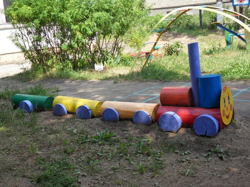 Поделки из дерева в детский сад на участок 10