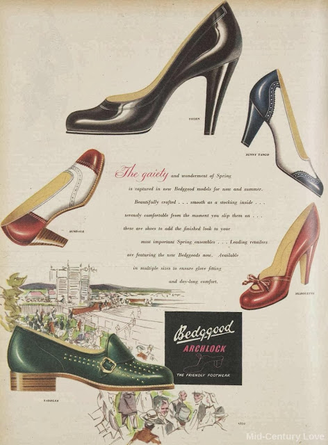 Beggood, The friendly footwear, 1952, vintage shoes