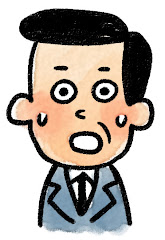 おじさんの表情のイラスト(驚き)
