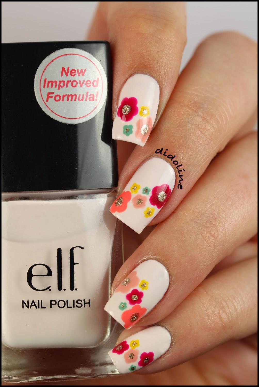 Petit nail art de printemps et m me plus avec elf didoline 39 s nails - Nail art printemps ...