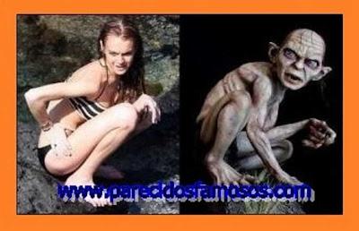 Lindsay Lohan con Gollum